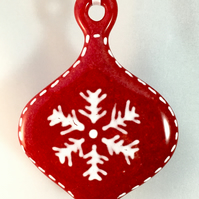 Fused Glass Scandanavian Style Christmas Tree Decoration
