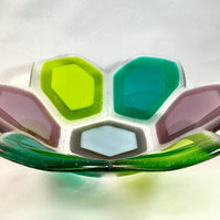 Hexagon Fused Glass Bowl