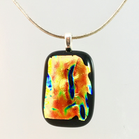 Fire Dichroic Glass Pendant