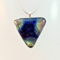 Triangle Shimmering Dichroic Glass Pendant