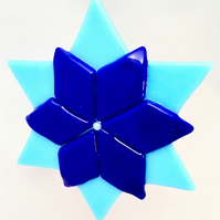Blue Christmas Star Flower Decoration