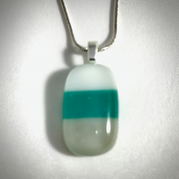 Striped Glass Pendant Necklace