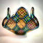 Tartan Bubble Glass Candle Holder or Trinket Dish