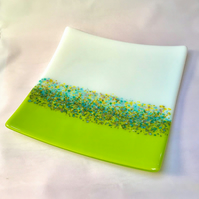 Springtime Fused Glass Decorative Platter