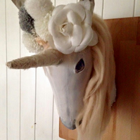 Unicorn hand made faux taxidermy