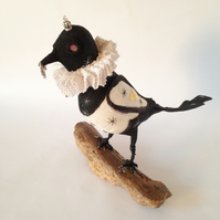 Hand made magpie collectable ornament