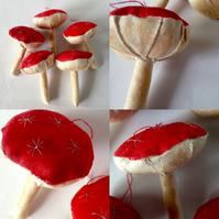 Christmas decoration fairy toadstools