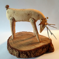 Primitive handmade Stag and star