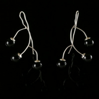 Sterling Silver Earrings with Onyxes