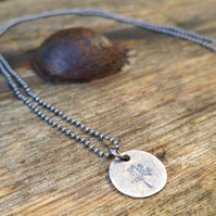 Tree of Life Necklace, Oxidized Sterling Silver Necklace, Silver Necklace