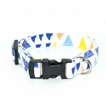 MR MYLO white blue and yellow geometric dog collar