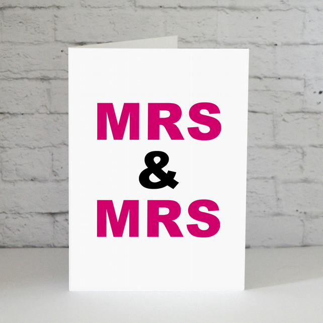 Mrs & Mrs Gay Wedding Card
