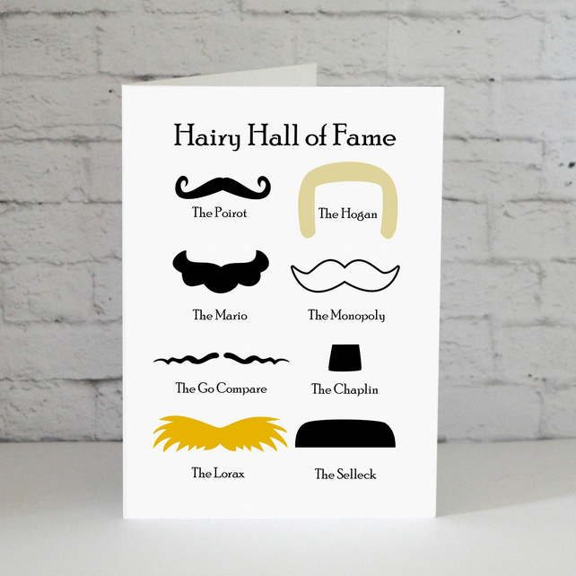 Moustache Greeting Card