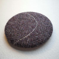 Purple tweed pocket mirror