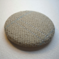 Cream wool pocket mirror