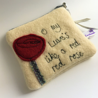 Red Red rose coin purse