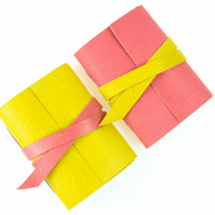 Mini Journal: Blush Pink and Lemon Yellow Little Notebook Gifts For Her