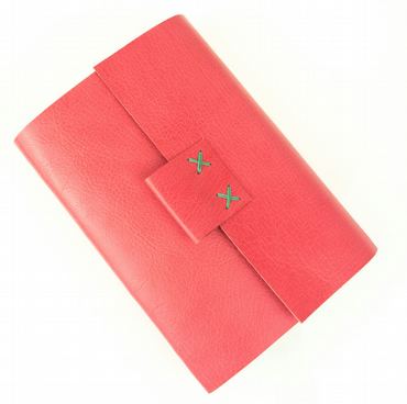 Leather Journal, Sketchbook Pink and Green pretty feminine notebook feat. VOGUE