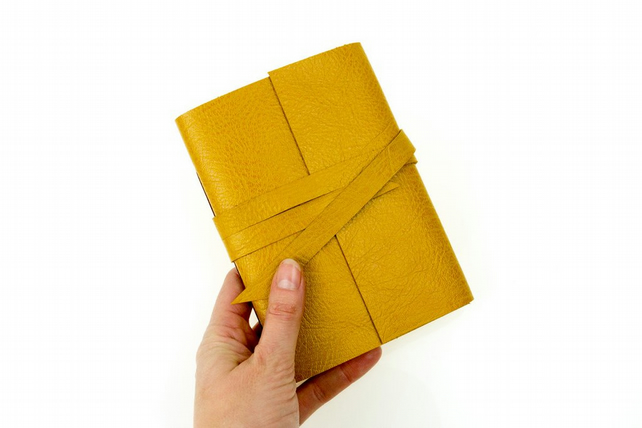 SALE Simple Wrap Leather Journal: rustic, natural, tactile, boho sketchbook
