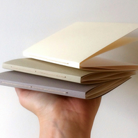 Accordion Book Set: folded, expandable 'concertina' sketchbooks A6 Portrait