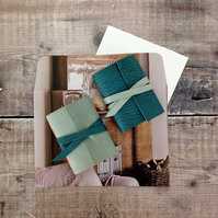 Scandi Mini Journals: Teal & Pale Blue little leather Nordic style notebooks