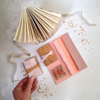 Cork Mini Journal: Rose Gold or Natural. Vegan, eco-friendly handmade notebooks