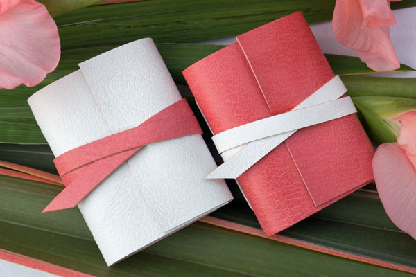 Blush Pink Little Leather Journals