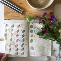 Wabi Sabi Sketchbook: lay flat with recycled cotton rag for watercolour