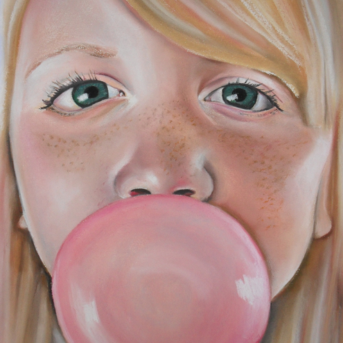 "Pastel Portrait ""Beth's Bubble"""