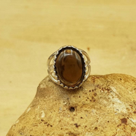 Adjustable Smoky Quartz ring