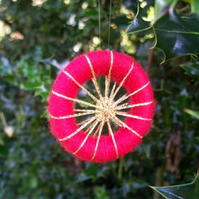 Dorset Button Christmas Decoration Workshop, 16th November 2014, nr Dorchester