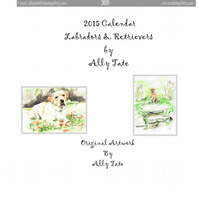 Labrador & Retriever calendar by Ally Tate