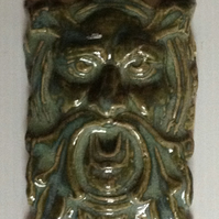 Green Man - kiwi fruit  green ceramic