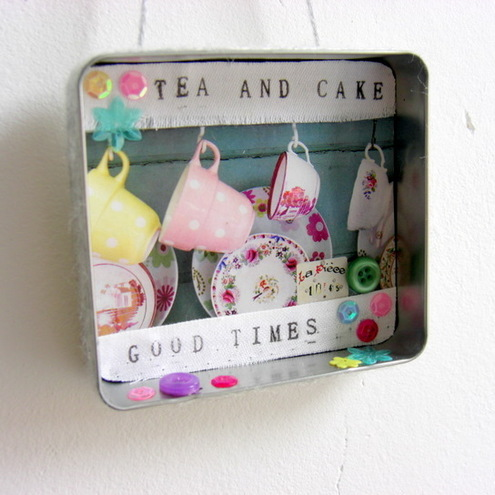 Teacups wall hanging