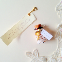 Bridesmaid invitation, Will you be my Bridesmaid Message in a Bottle