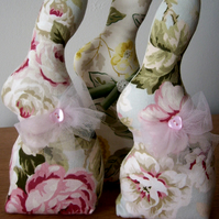 Shabby Chic Bunny (Pink & Green)
