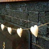 Country style Cream felt heart garland.Country Wedding Decor