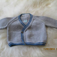 Boys Wrapover cardigan with matching hat