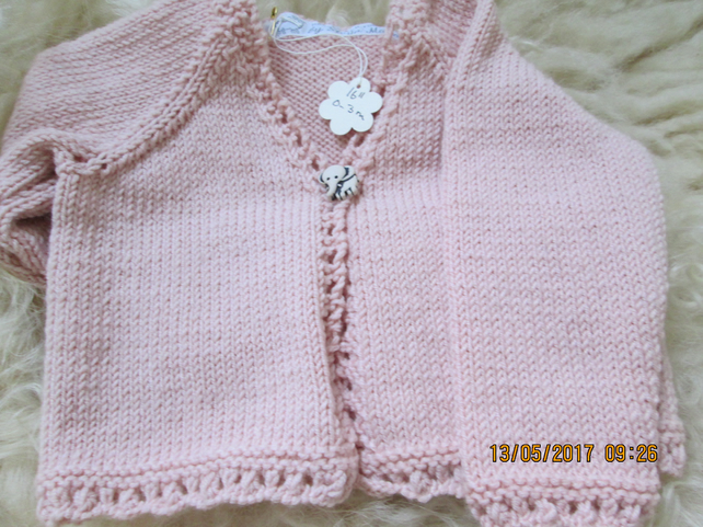 childs cardigan bonnet and bootees