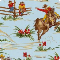 Cowboy Fabric by Robert Kaufman, FQ