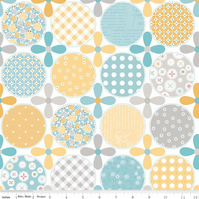 Polka Dot Stitches, Blue, FQ