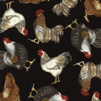 Chicken Fabric, Timeless Treasures, FQ