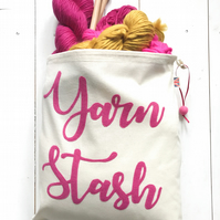 Yarn Stash drawstring bag ( contents not included)
