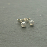Moonstone and sterling silver stud fashion earrings
