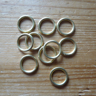 10 x 12mm Hollow Brass Rings for Traditional Dorset Button Making