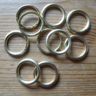 10 x 18mm Hollow Brass Rings for Traditional Dorset Button Making