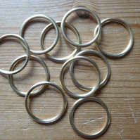 10 x 32mm Hollow Brass Rings for Traditional Dorset Button Making
