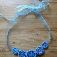 Dorset Button Necklace, Bluebell