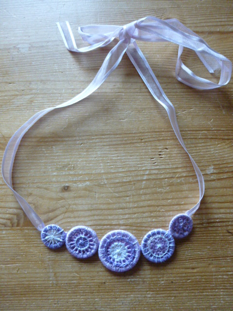 Dorset Button Necklace, Wisteria