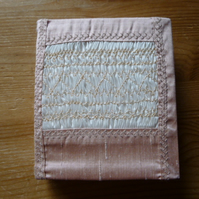 Hand Smocked Pale Pink Silk Needlecase, N1